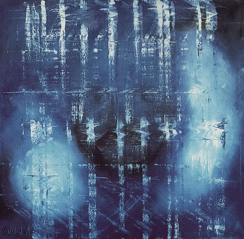 Blue (1995) - Öl auf Leinwand, Oil on Canvas, 120 cm x 120 cm