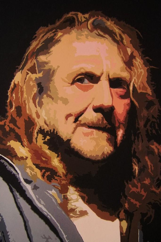Robert Plant (2013) - Öl auf Leinwand, Oil on Canvas, 100 cm x 140 cm
