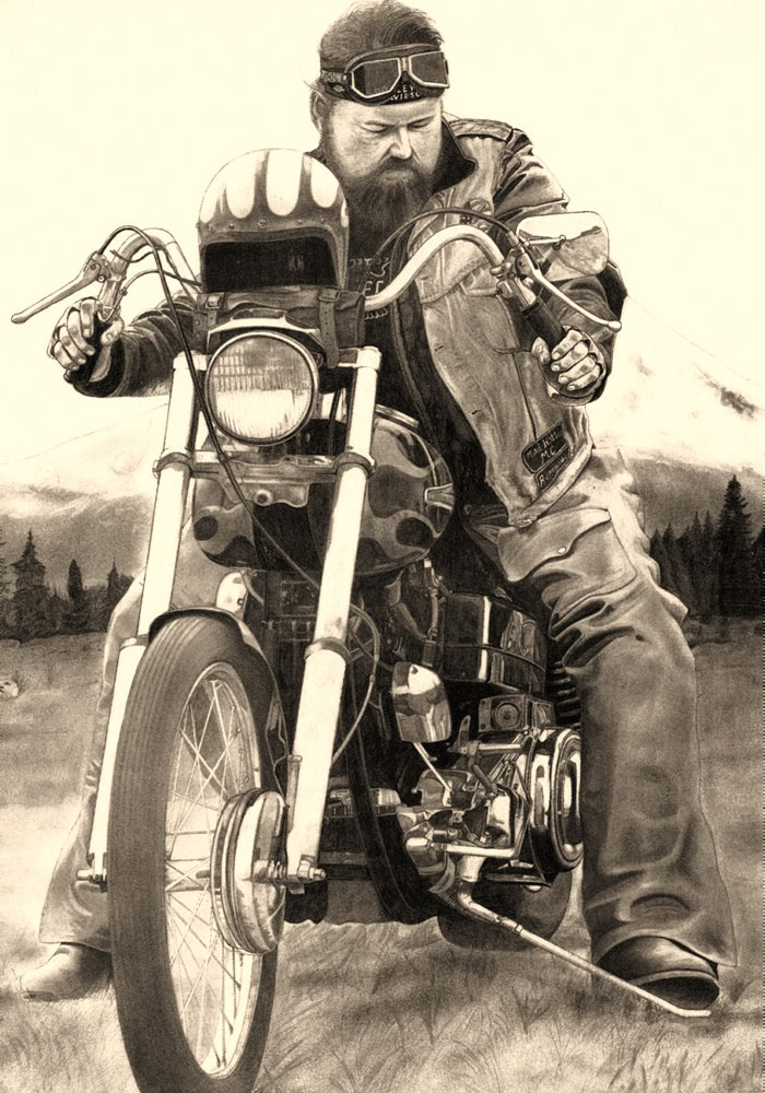 Fat Bob (1984) -                               Bleistift auf Papier, Pencil on Paper, 42 cm x 62 cm