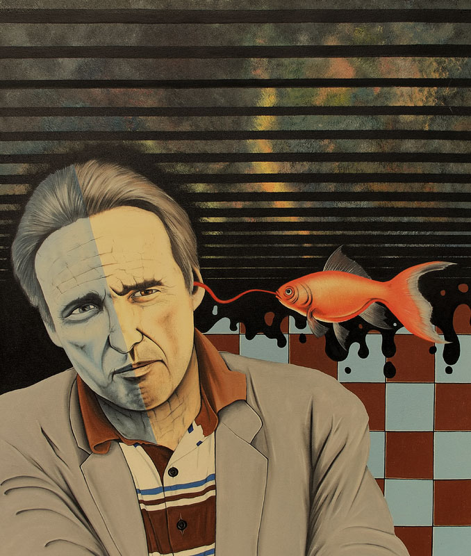 Questions to Dennis (1996) - Öl auf Leinwand, Oil on Canvas, 100 cm x 120 cm