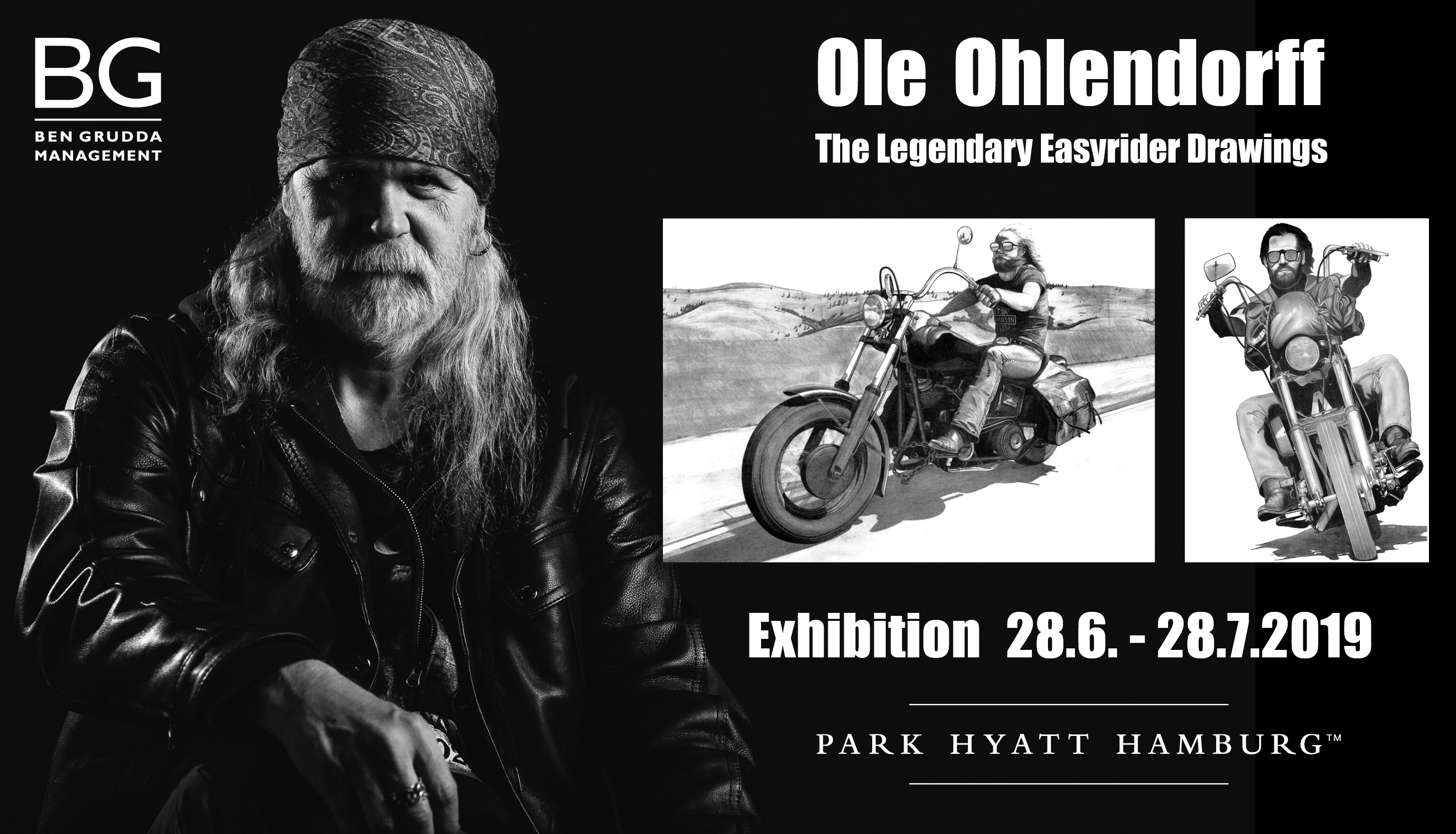 Legendary Easyrider Drawings Park Hyatt Hamburg