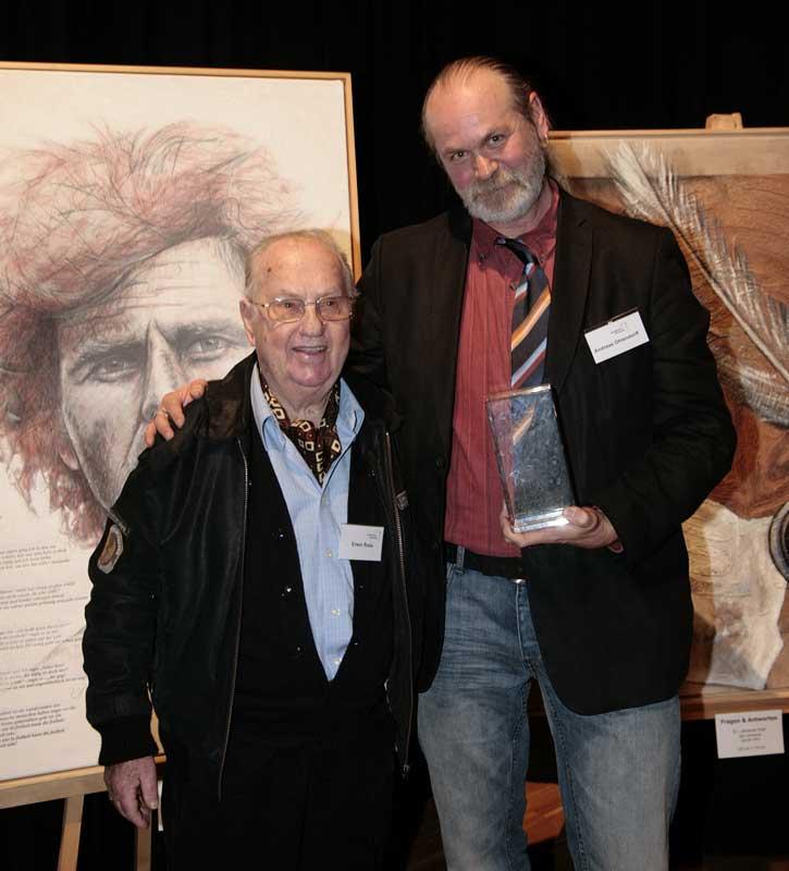 Ole Ohlendorff mit Erwin Ross (St.Pauli Kultmaler - der Rubens von der Reeperbahn)